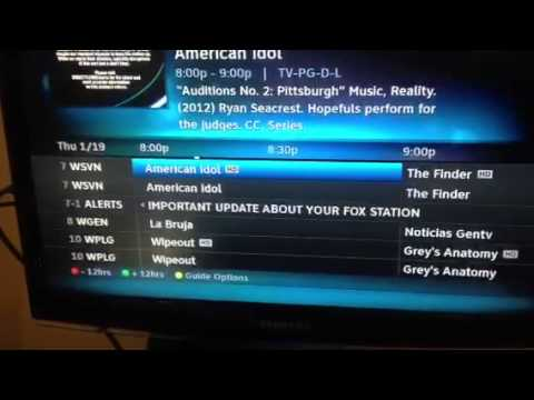 where is shaw direct tv guide station