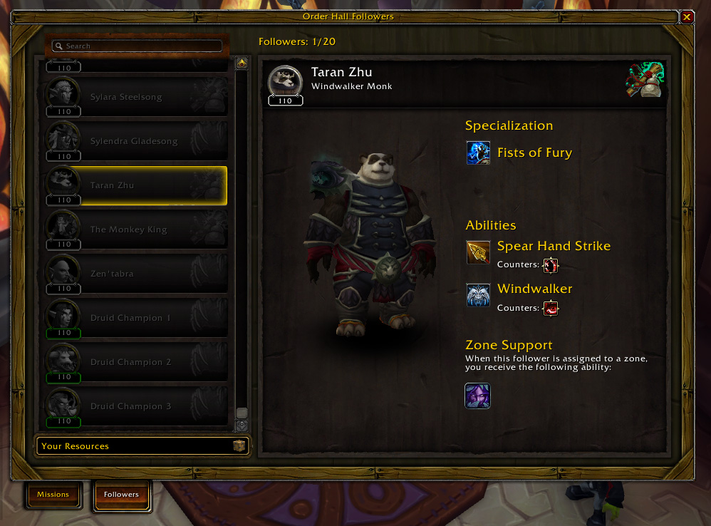 wow order hall champion guide