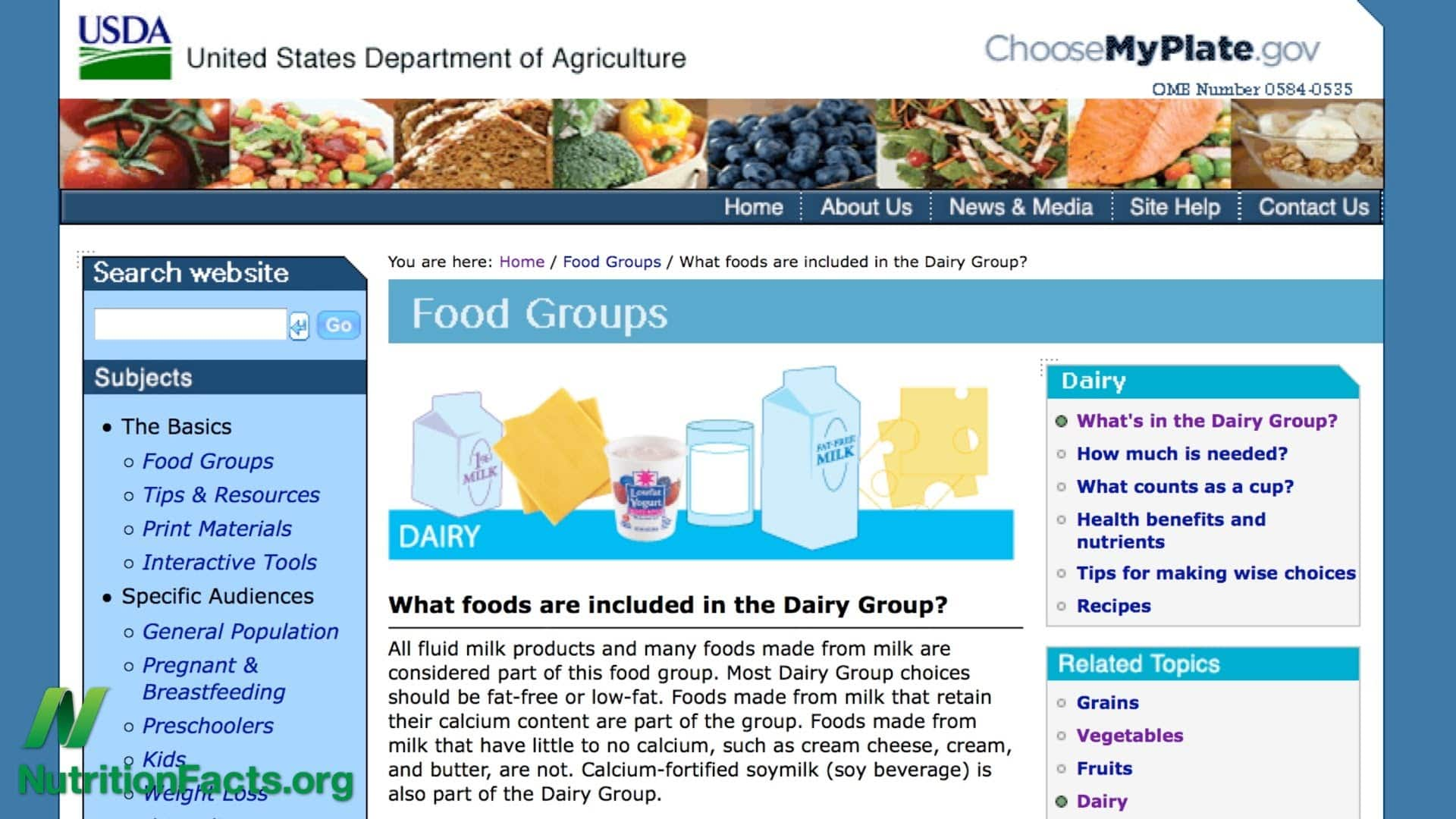 principles of the usda food guide