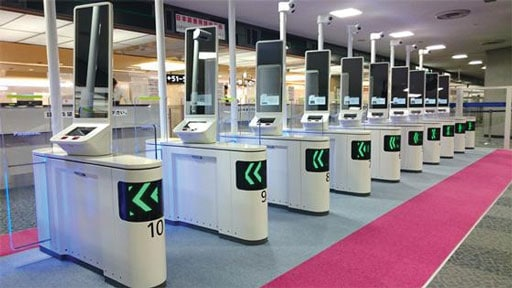 automated guided transport system in the airport