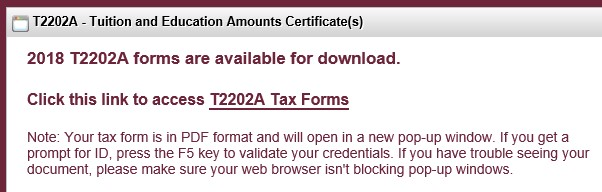 tax guide t2202 t2202a additional information